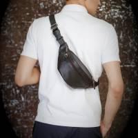 Мужская кожаная сумка на пояс. История и факты