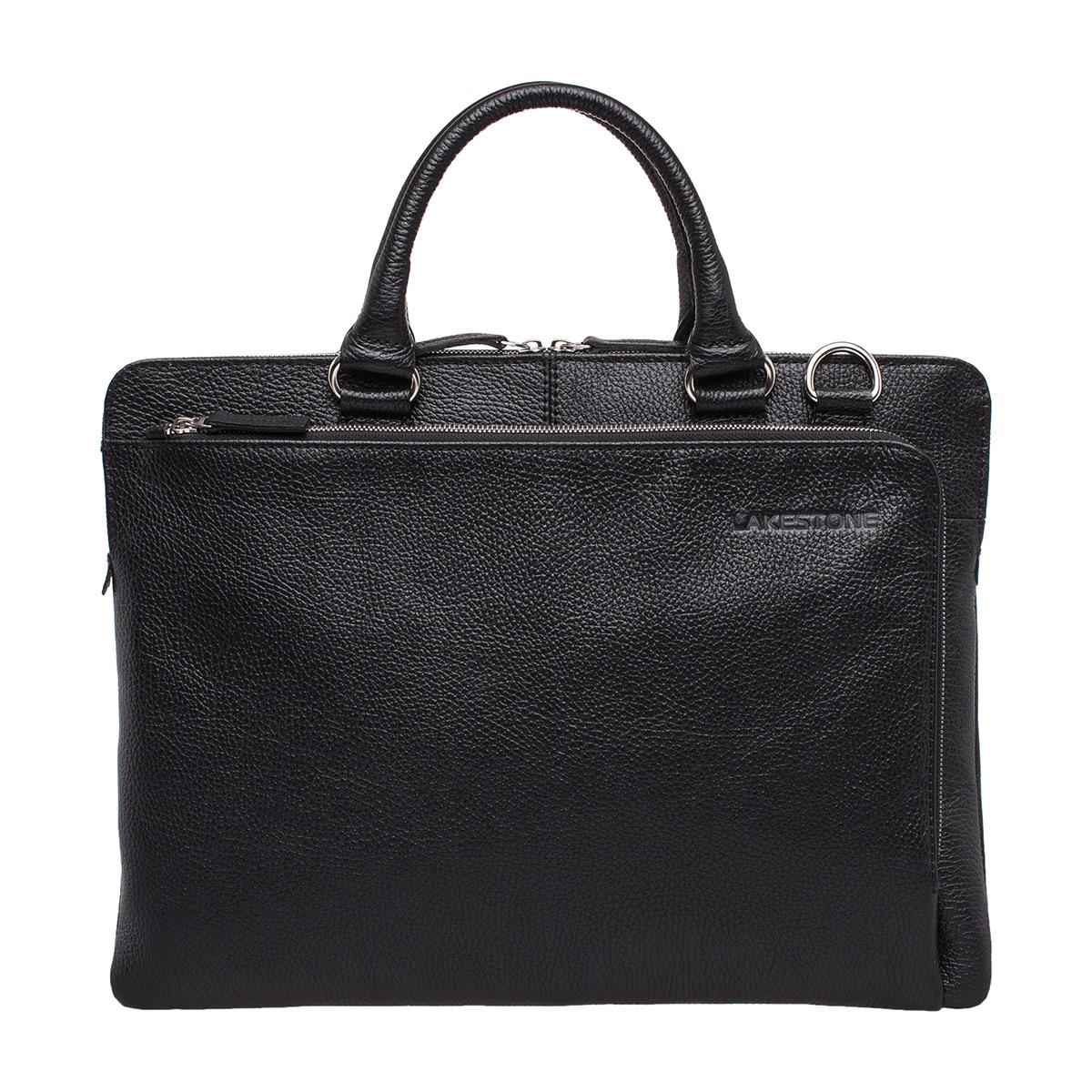 Кожаная деловая сумка для ноутбука Albert Black фото