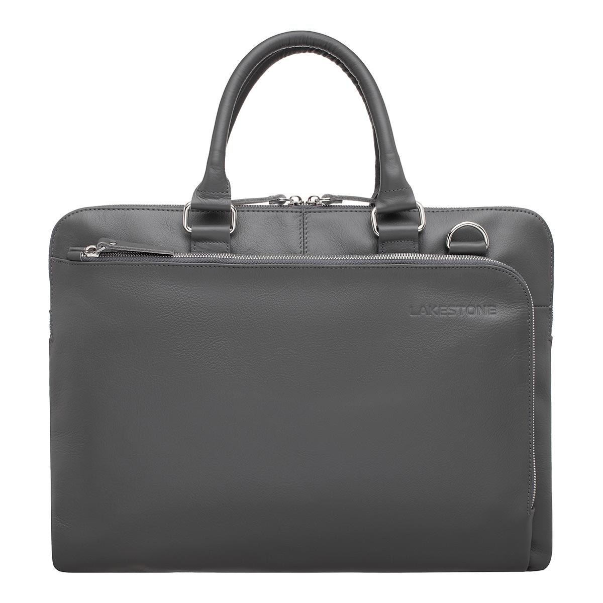 Кожаная деловая сумка Albert Grey фото