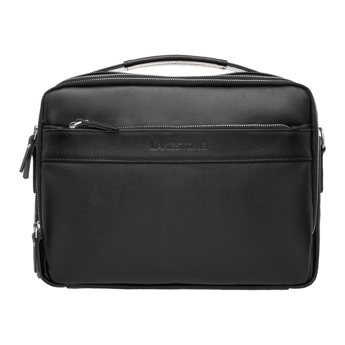 Кожаная мужская сумка Anhor Black фото