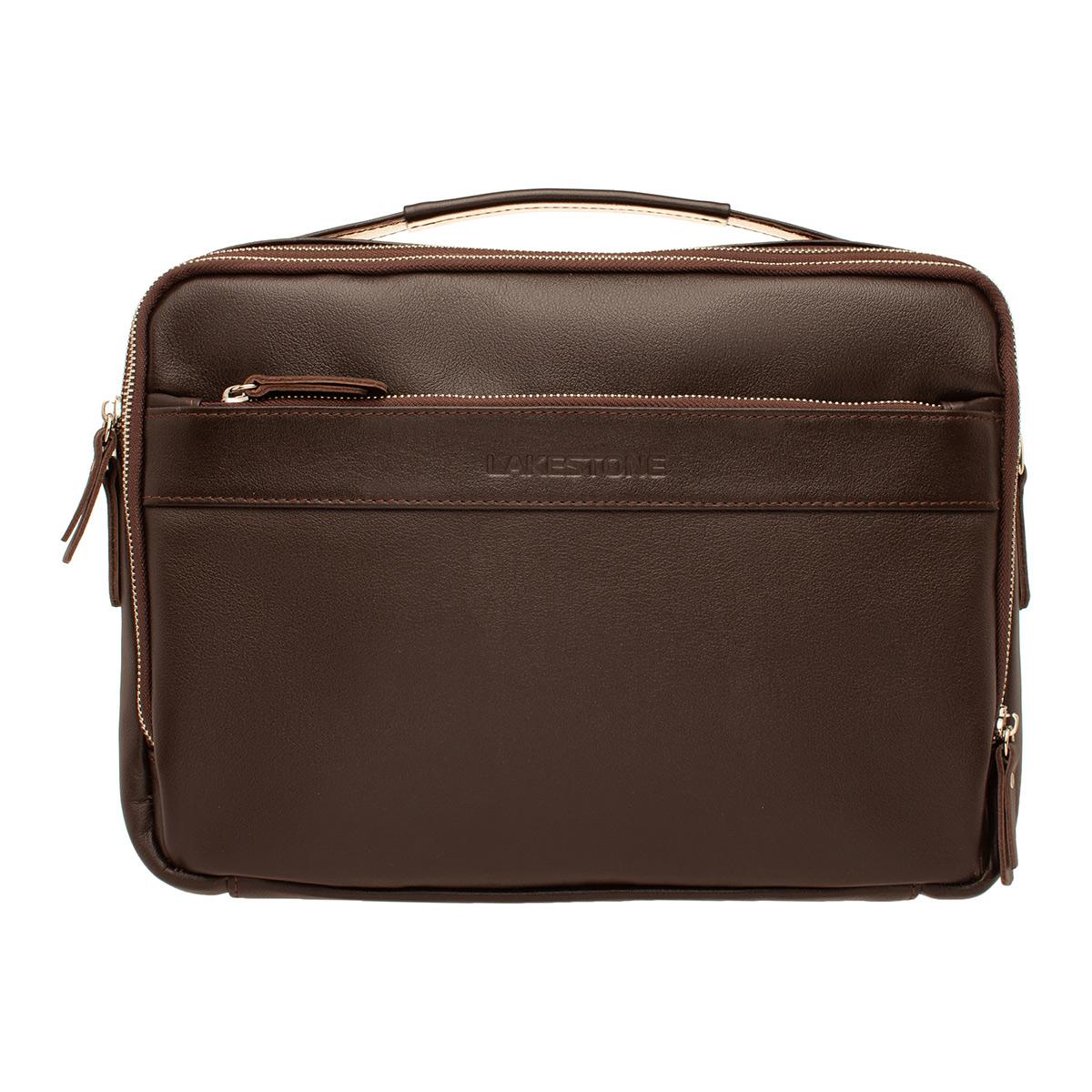 Кожаная мужская сумка  Anhor Brown