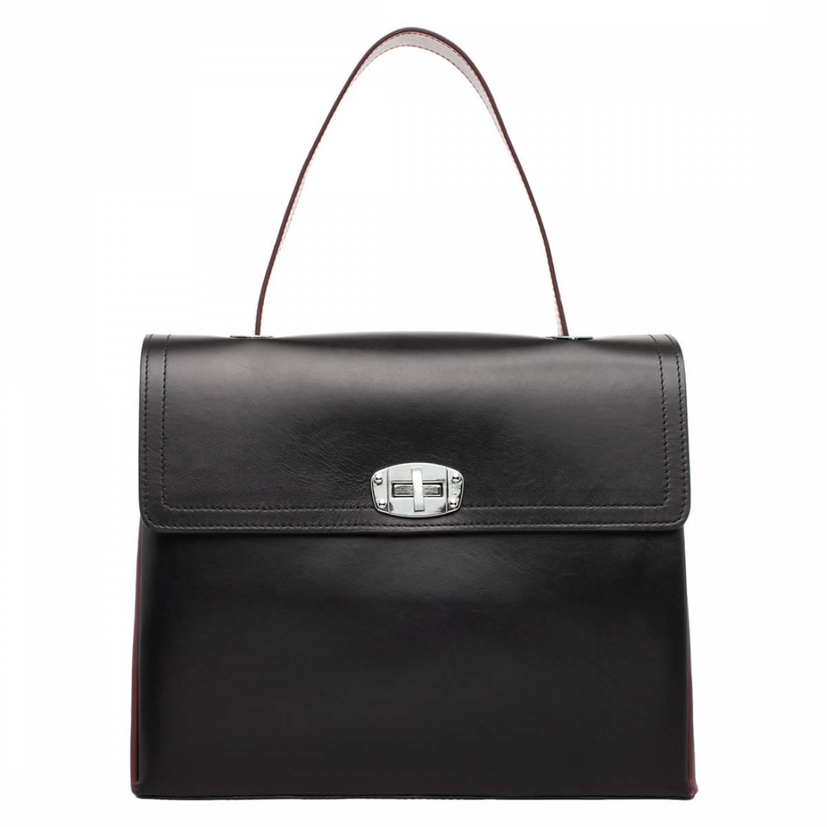 Женская сумка Astrey Black/Burgundy фото