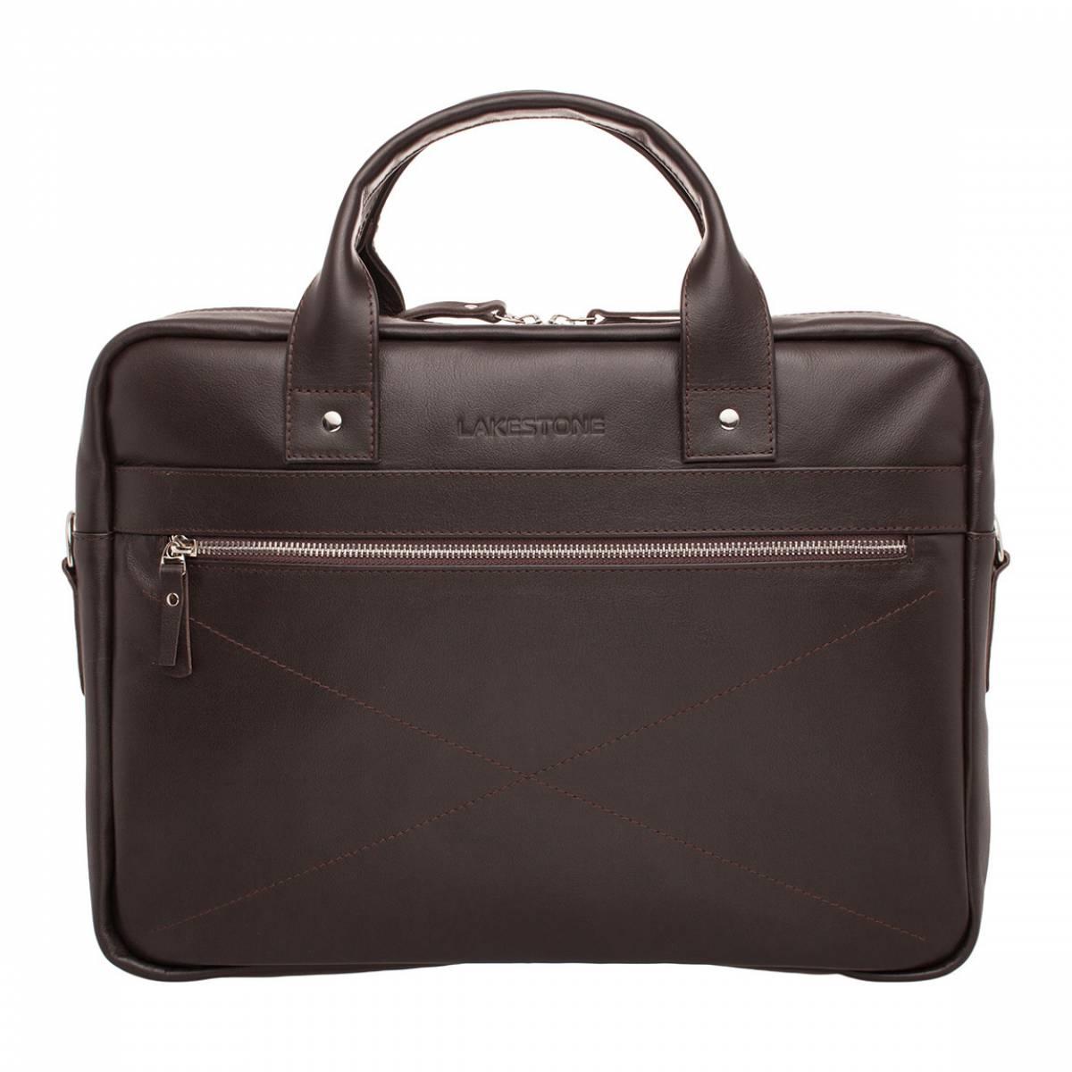 Деловая сумка Bartley Brown для ноутбука из кожи фото