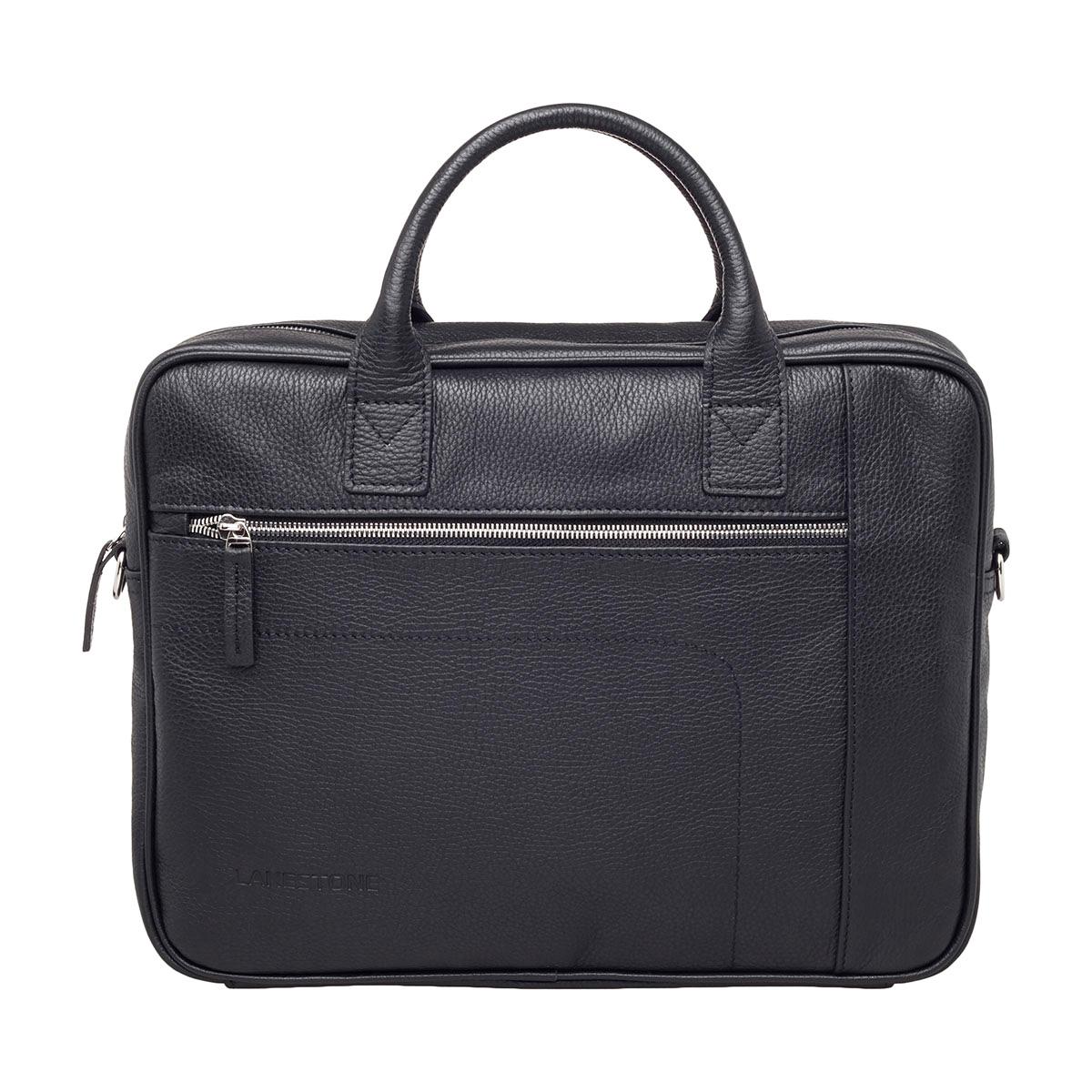 Кожаная деловая сумка для ноутбука Baxter Black фото