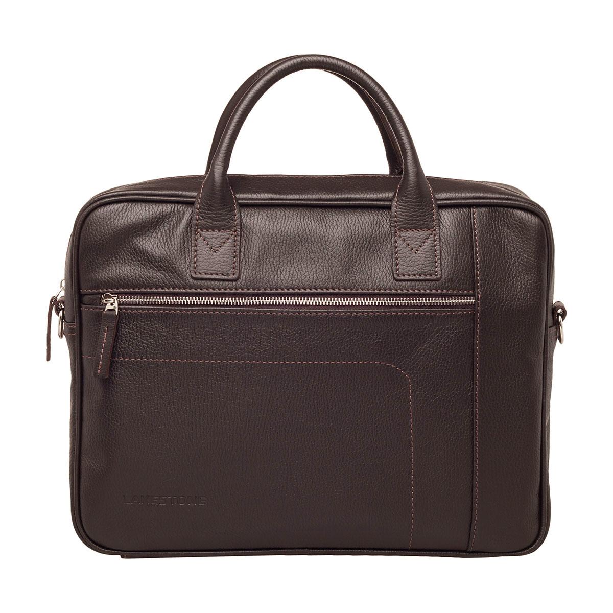 Деловая сумка Baxter Brown из кожи для ноутбука фото