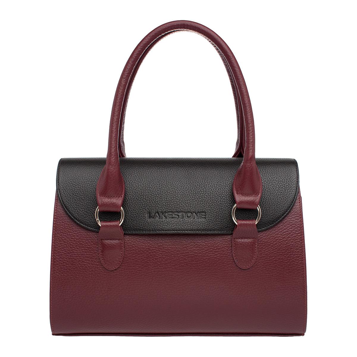 Женская кожаная сумка Bloy Burgundy/Black