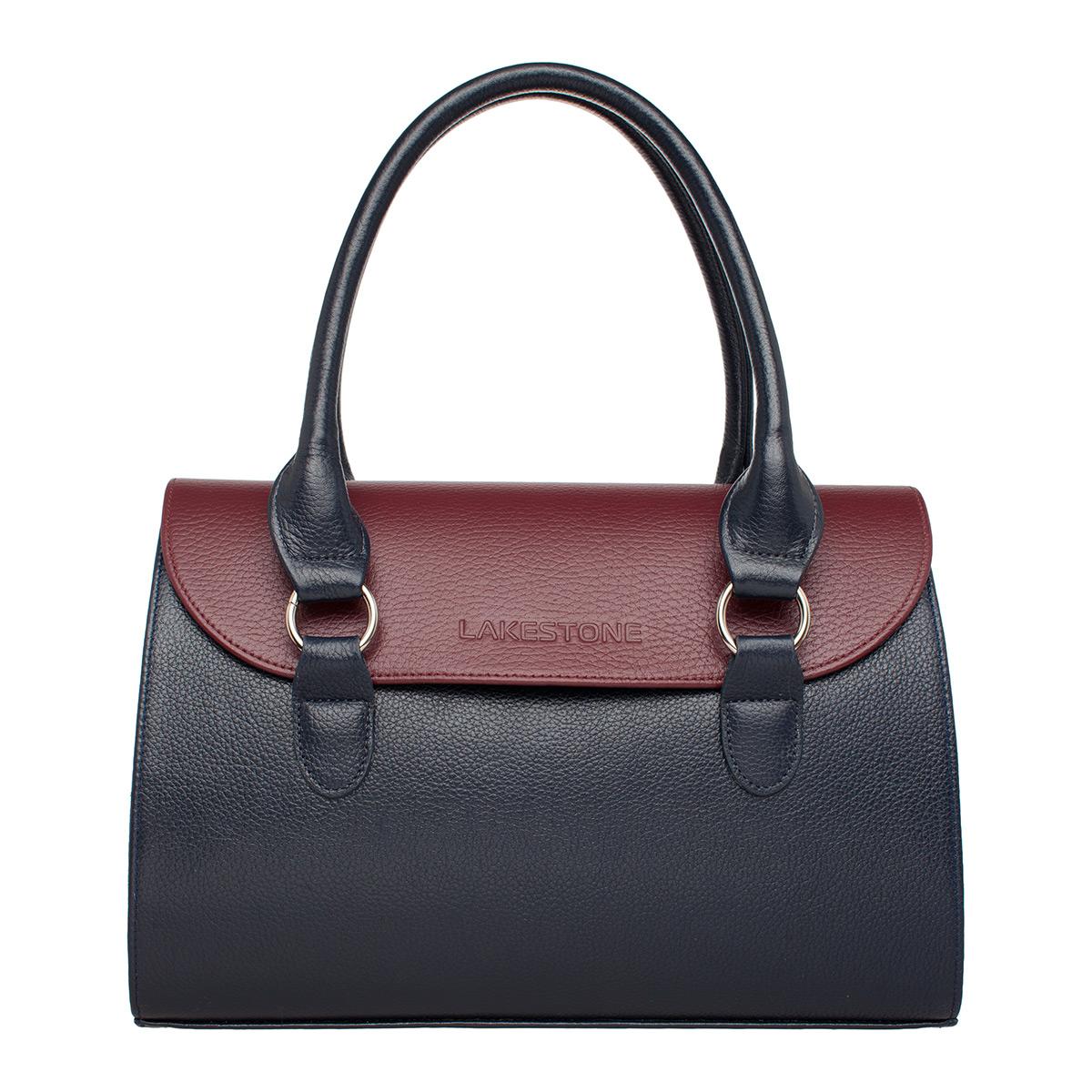 Женская кожаная сумка Bloy Dark Blue/Burgundy фото