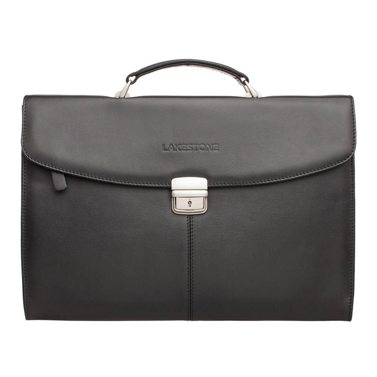 Кожаная папка-портфель Boverton Black фото