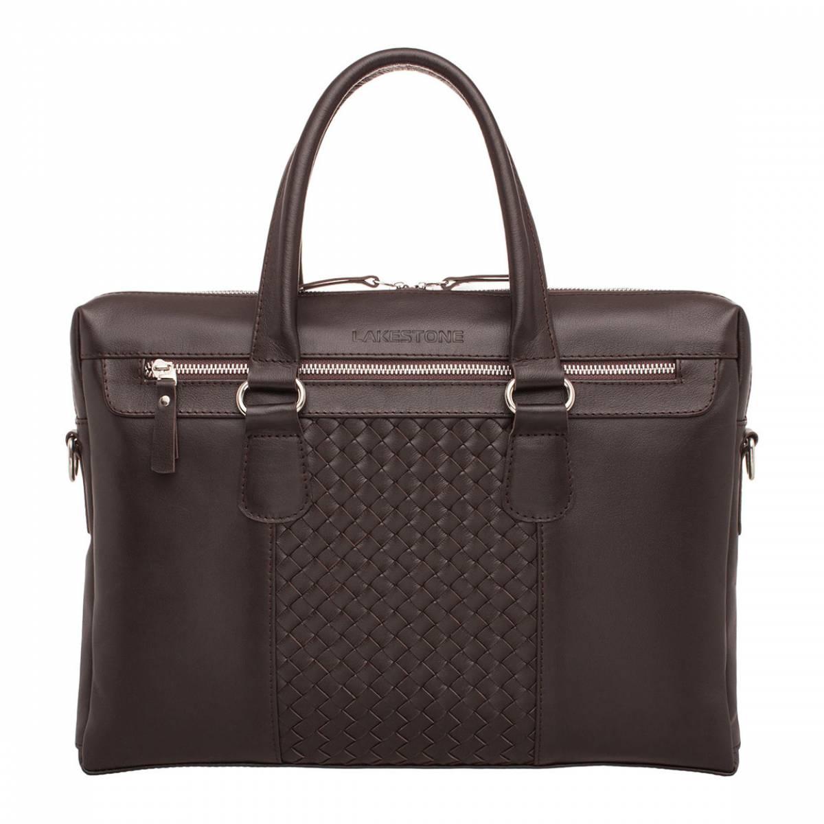 Деловая сумка Bramley Brown из кожи для ноутбука фото