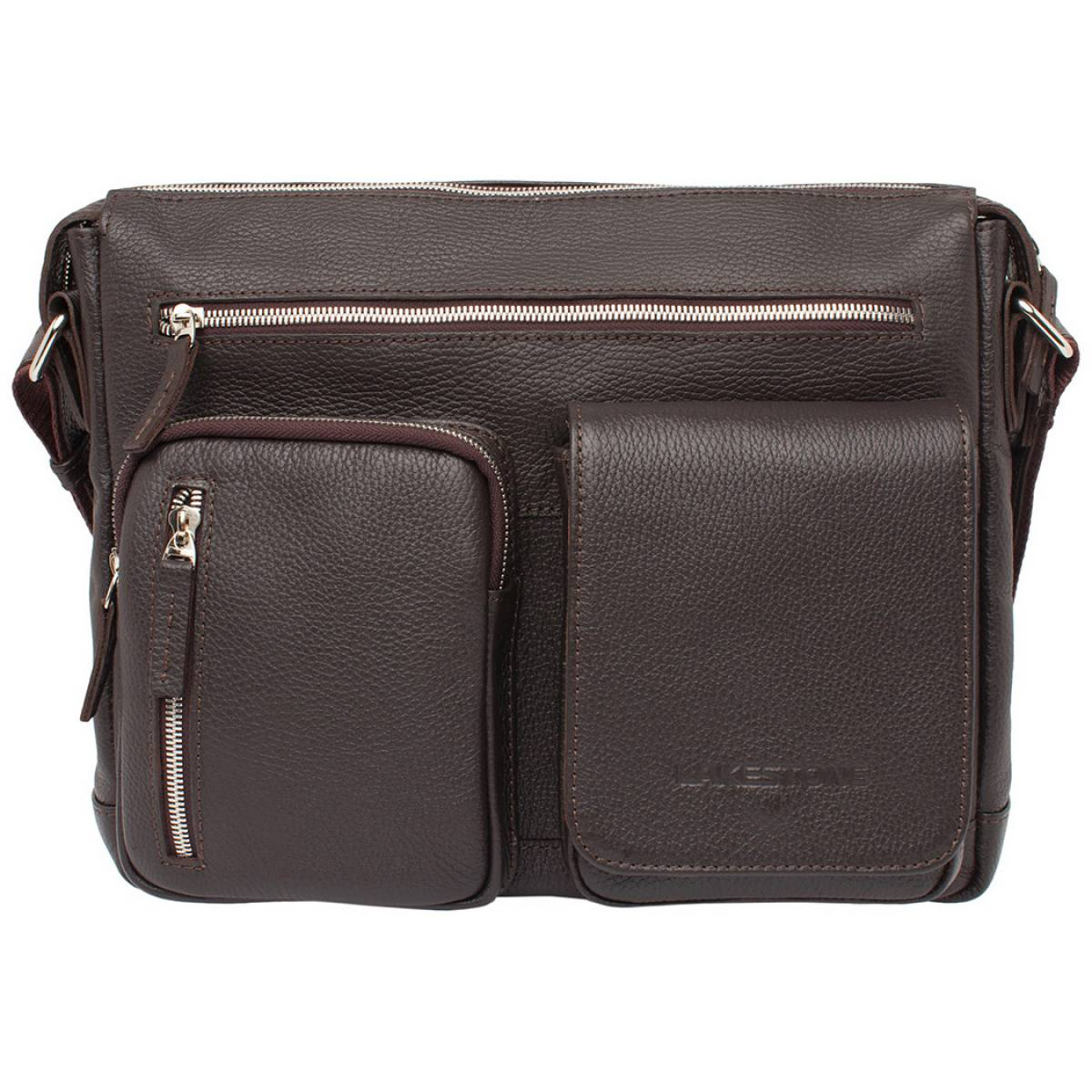 Мужская кожаная сумка через плечо Clapton Brown