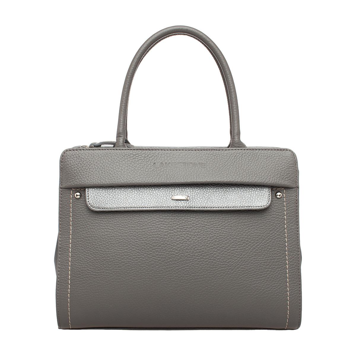 Фото - Женская кожаная сумка Darnley Grey