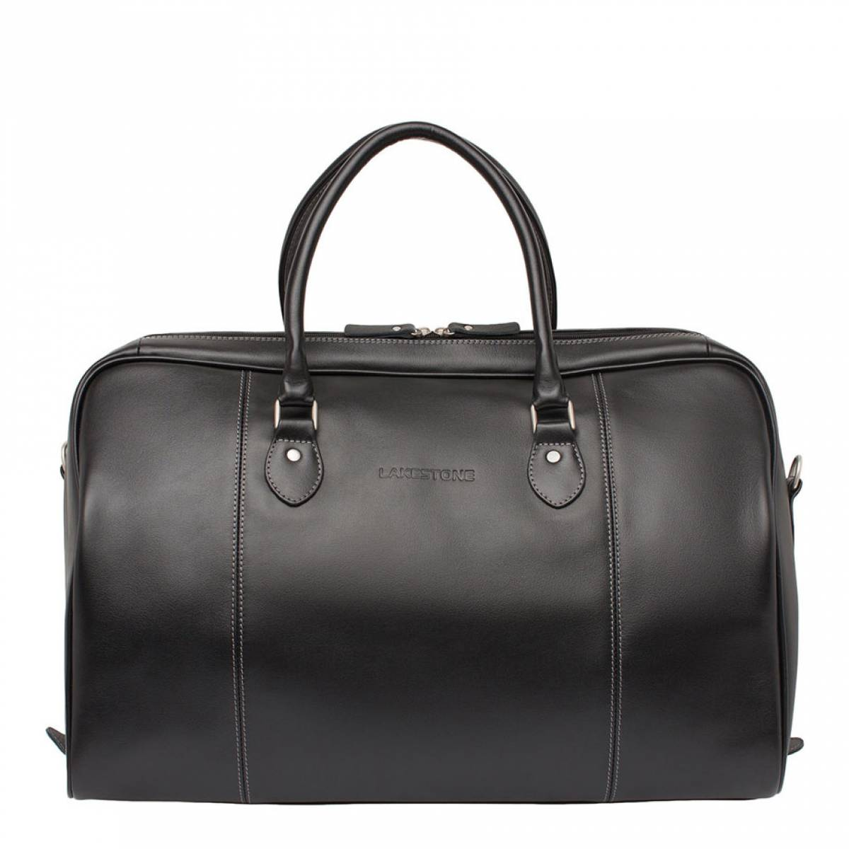 Кожаная дорожная сумка Davis Black фото