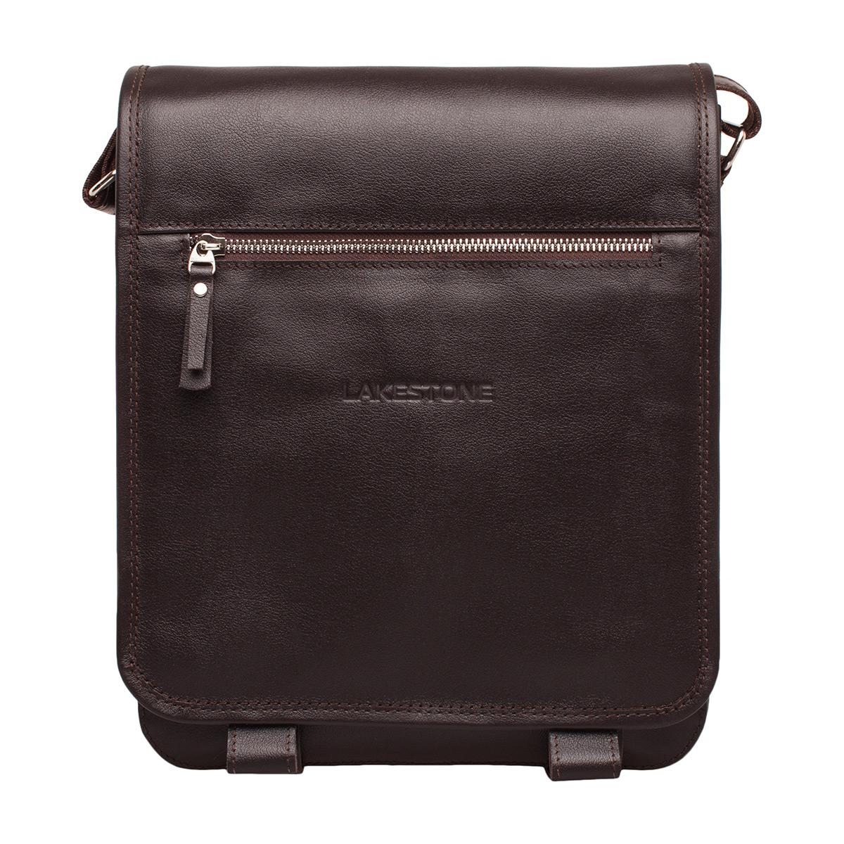 Кожаная сумка через плечо Denston Brown фото