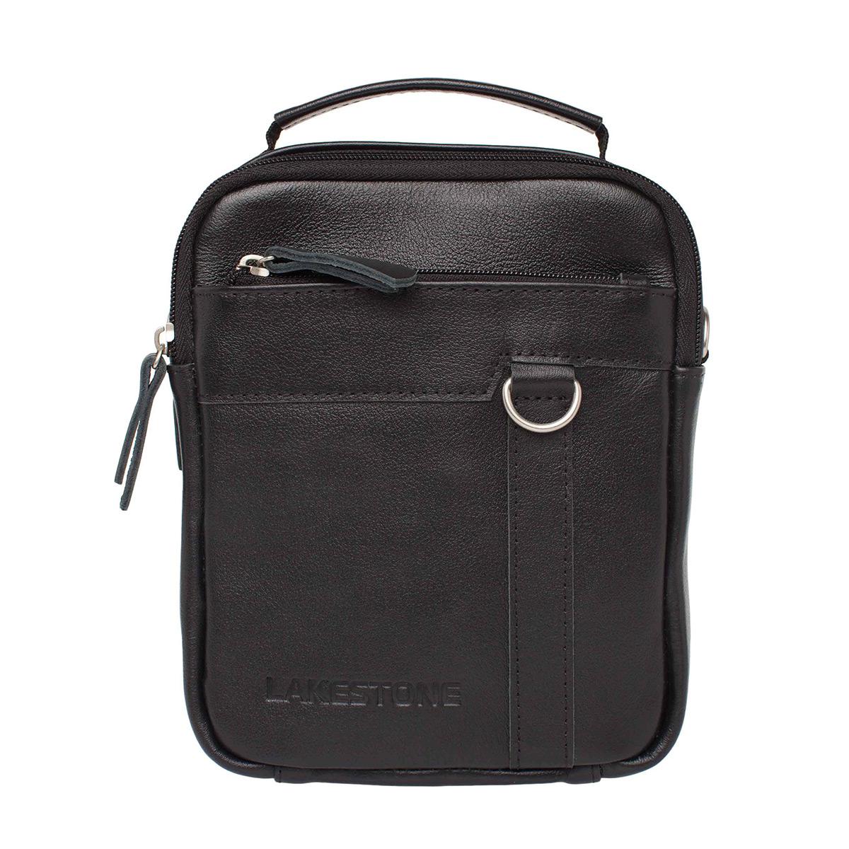 Мужская кожаная сумка через плечо Drake Black фото