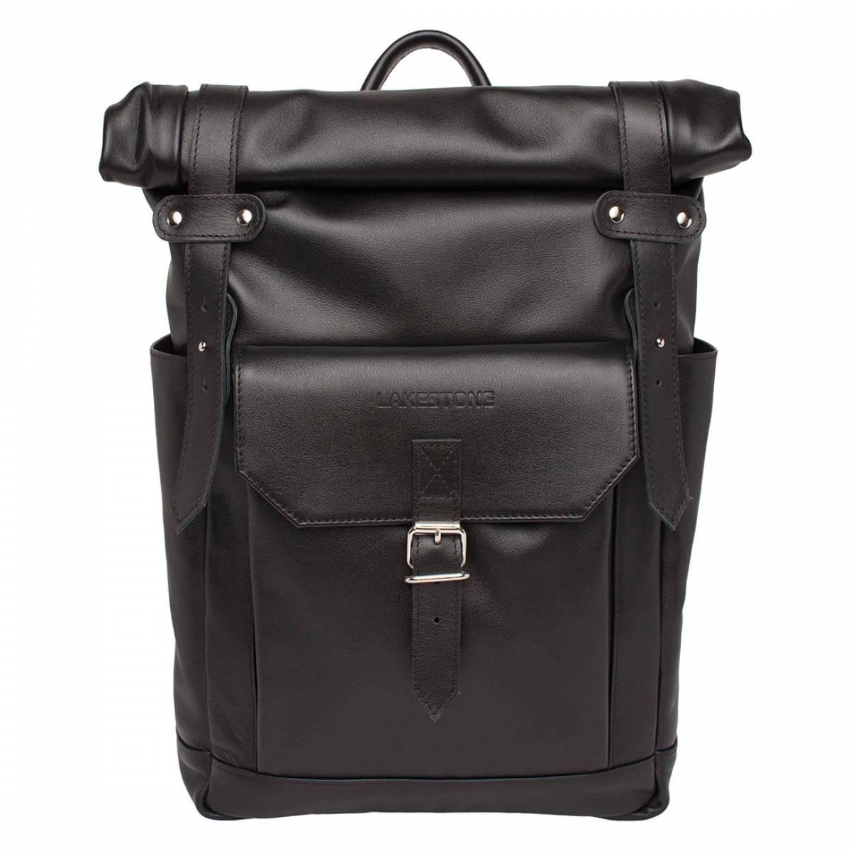Рюкзак для ноутбука из кожи Eliot Black