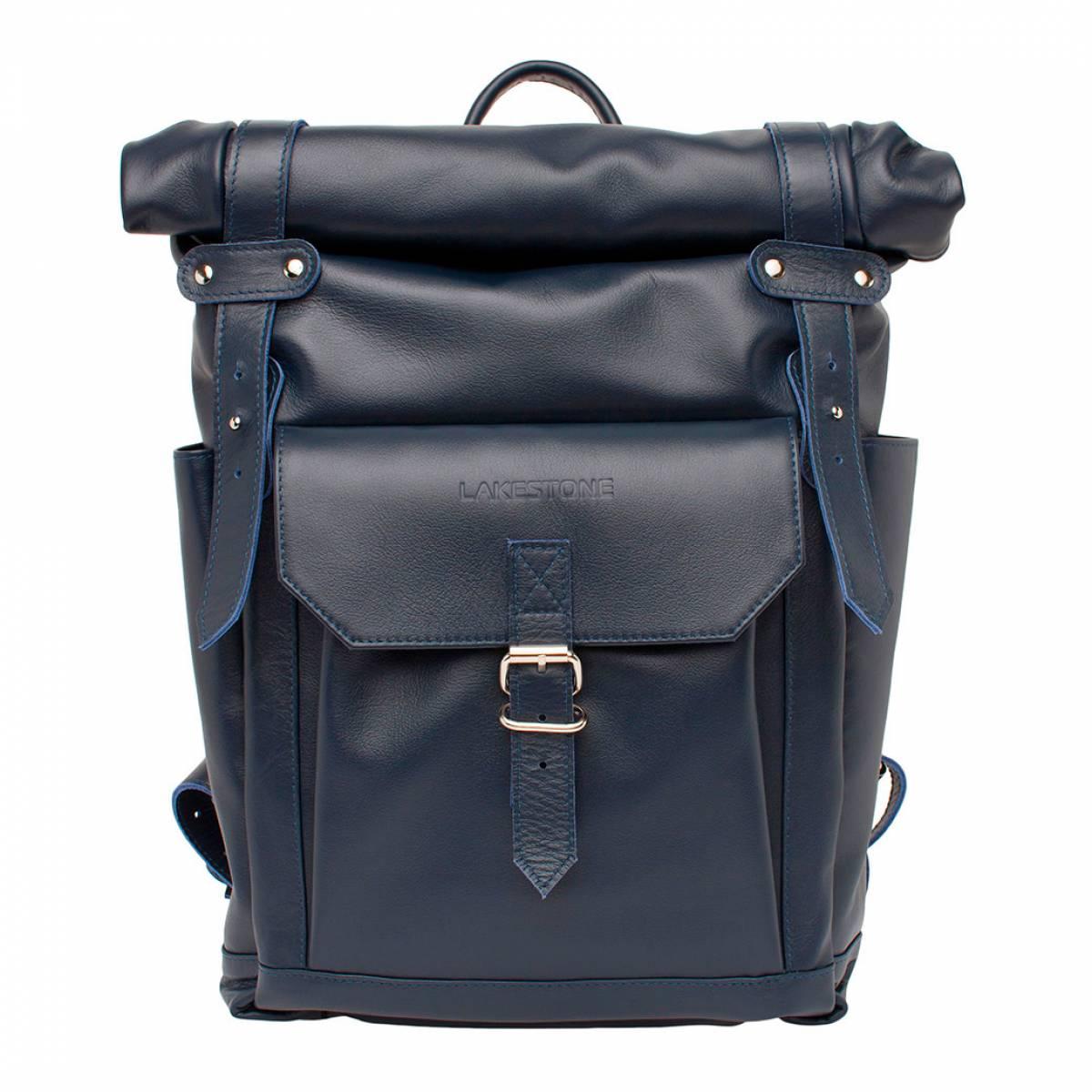Кожаный рюкзак для ноутбука Eliot Dark Blue фото