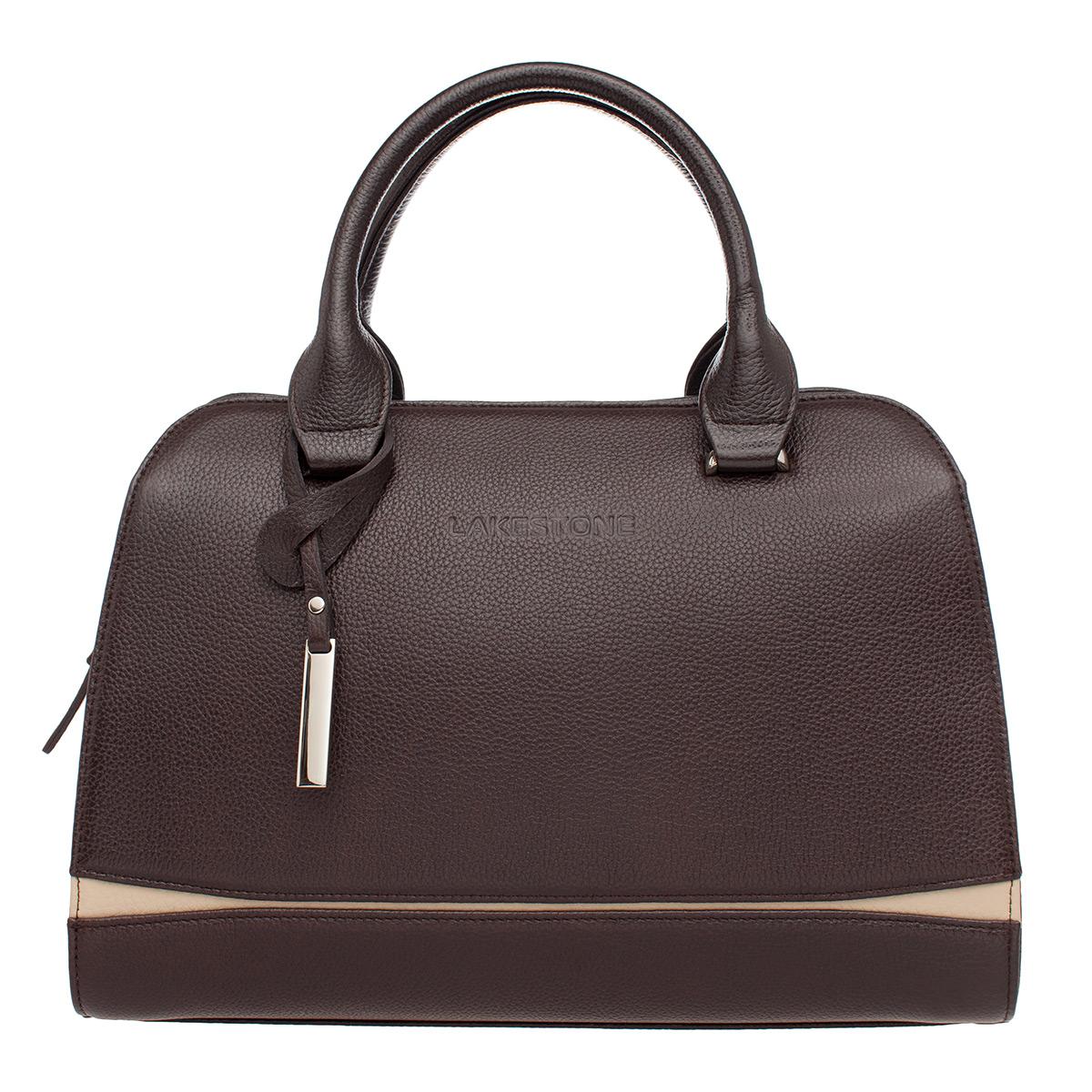 Женская кожаная сумка Emra Brown фото