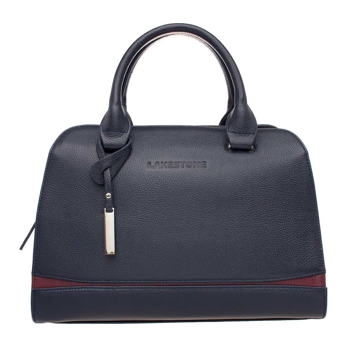 Женская кожаная сумка Emra Dark Blue