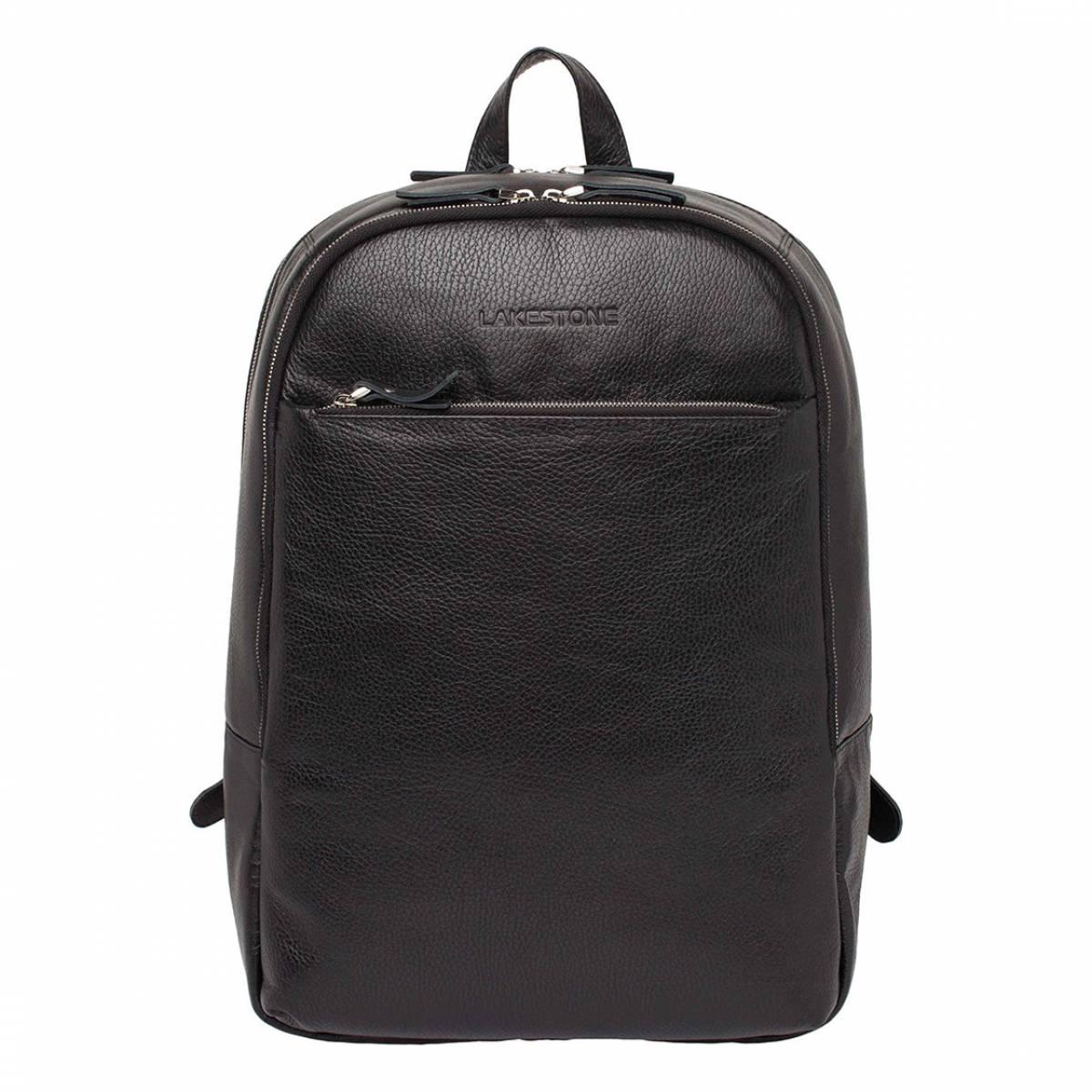 Кожаный мужской рюкзак для ноутбука Faber Black фото