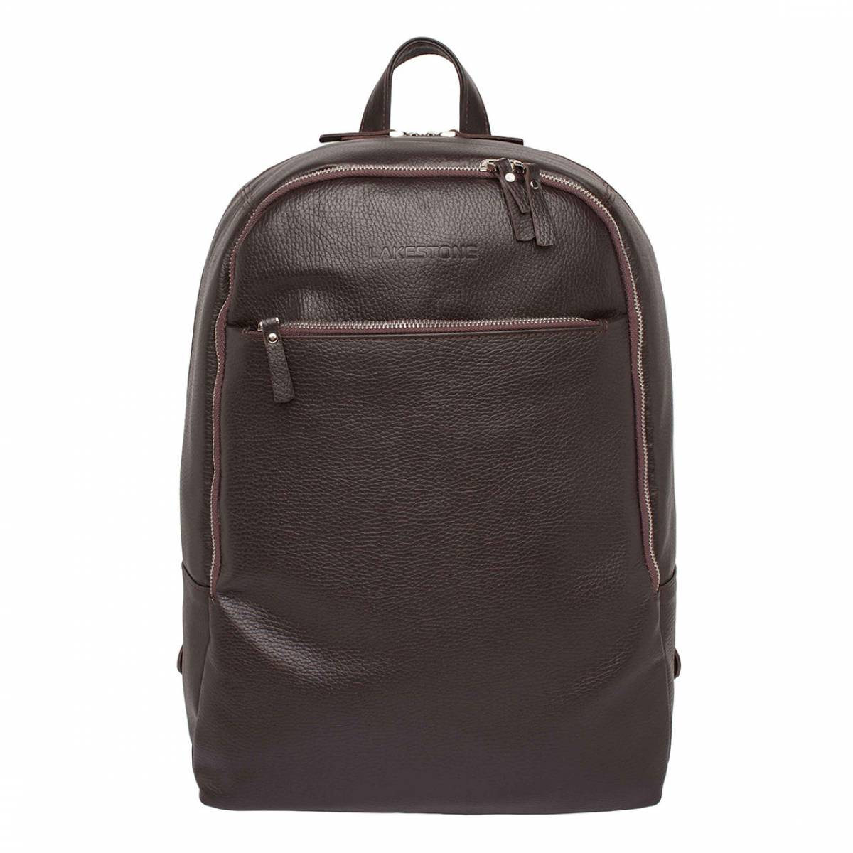 Кожаный мужской рюкзак для ноутбука Faber Brown фото