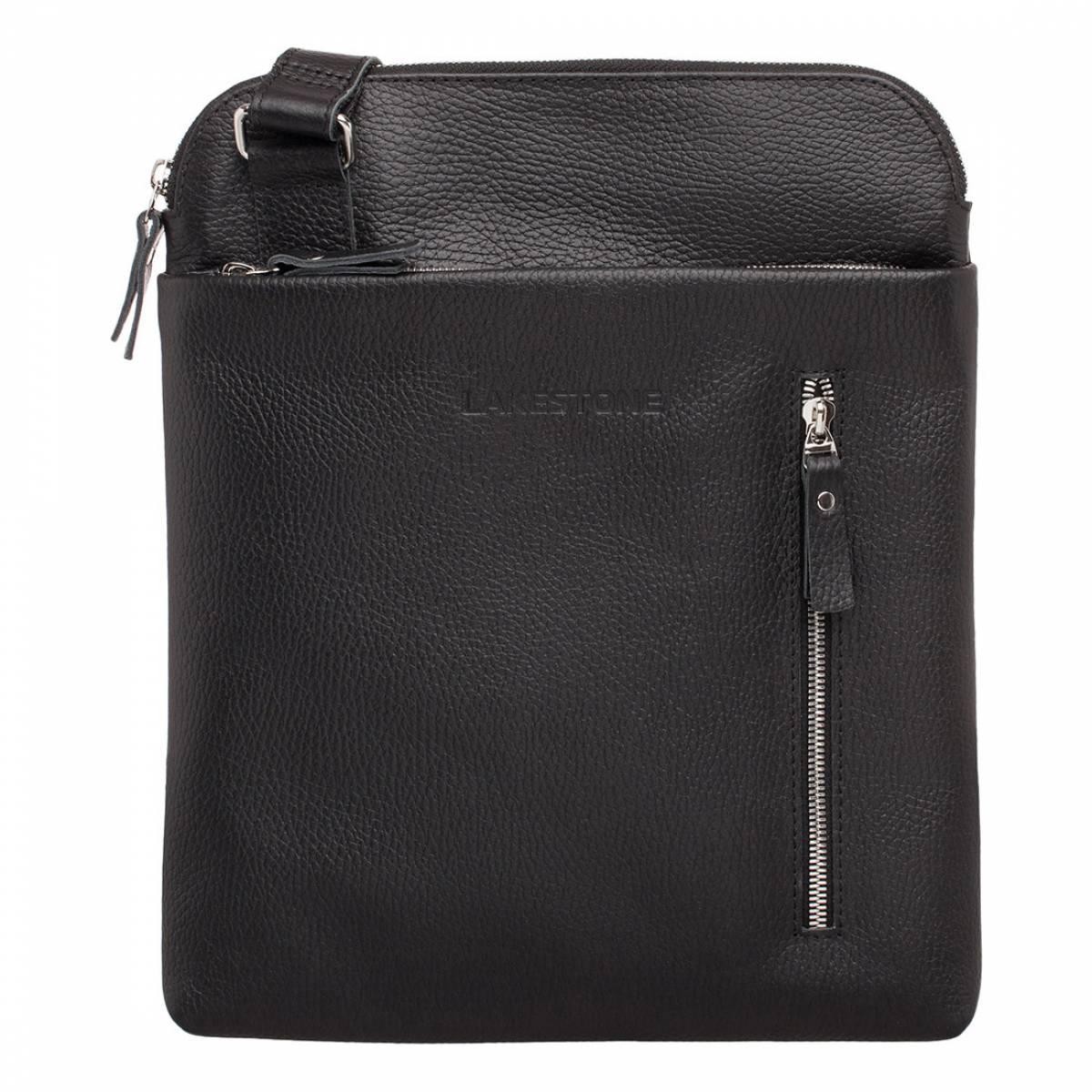 Кожаная сумка через плечо Fabian Black фото
