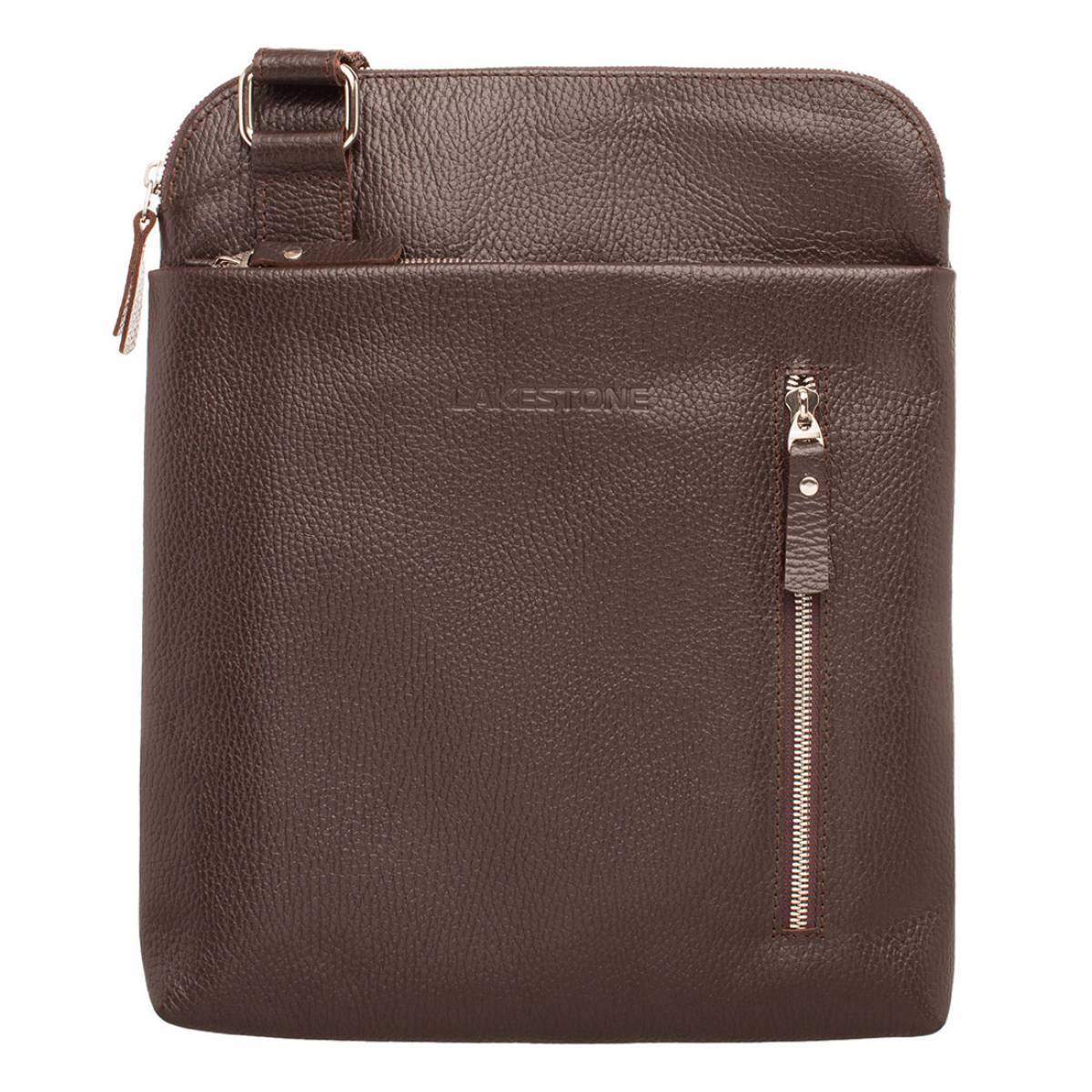 Мужская кожаная сумка через плечо Fabian Brown фото