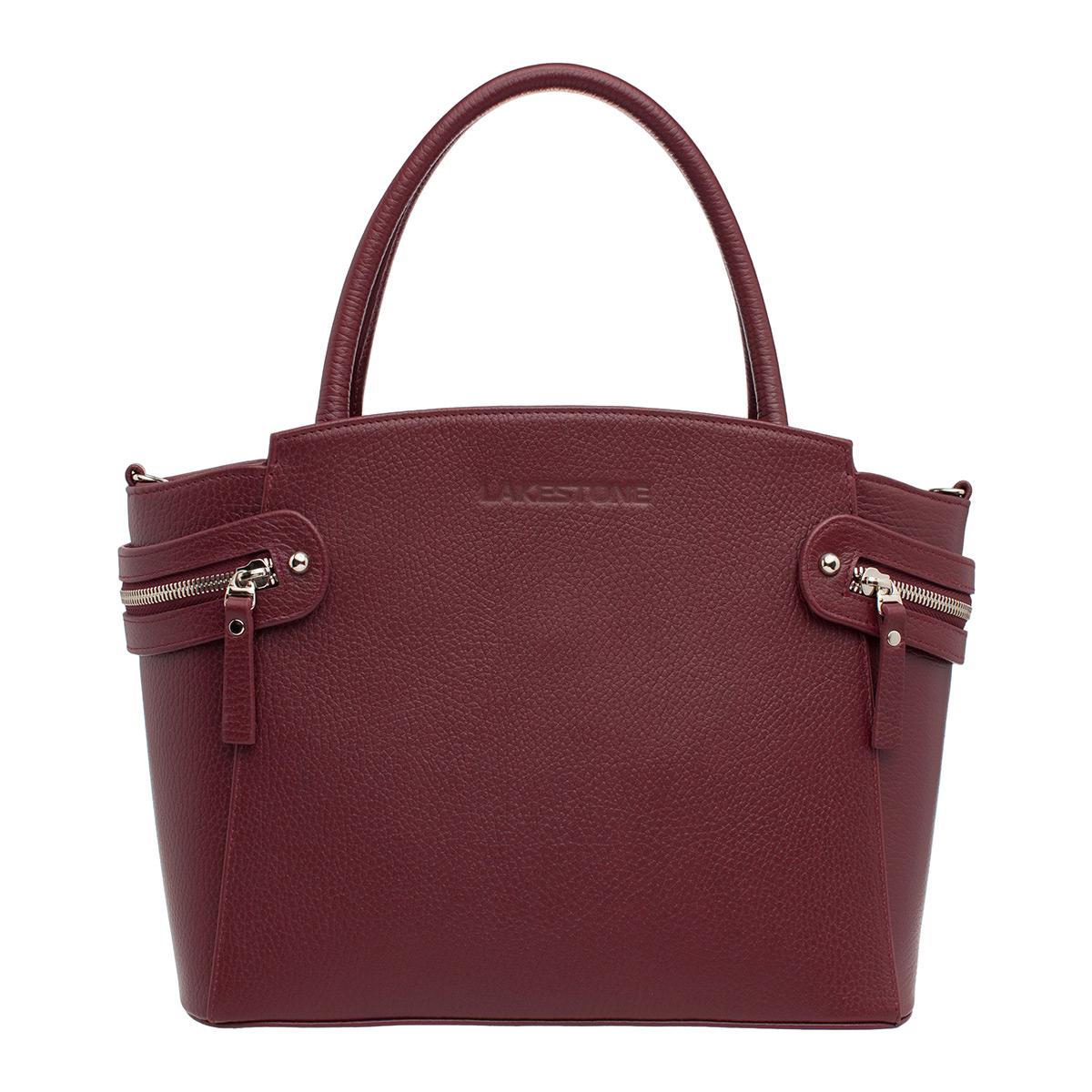 Кожаная женская сумка Hacket Burgundy фото