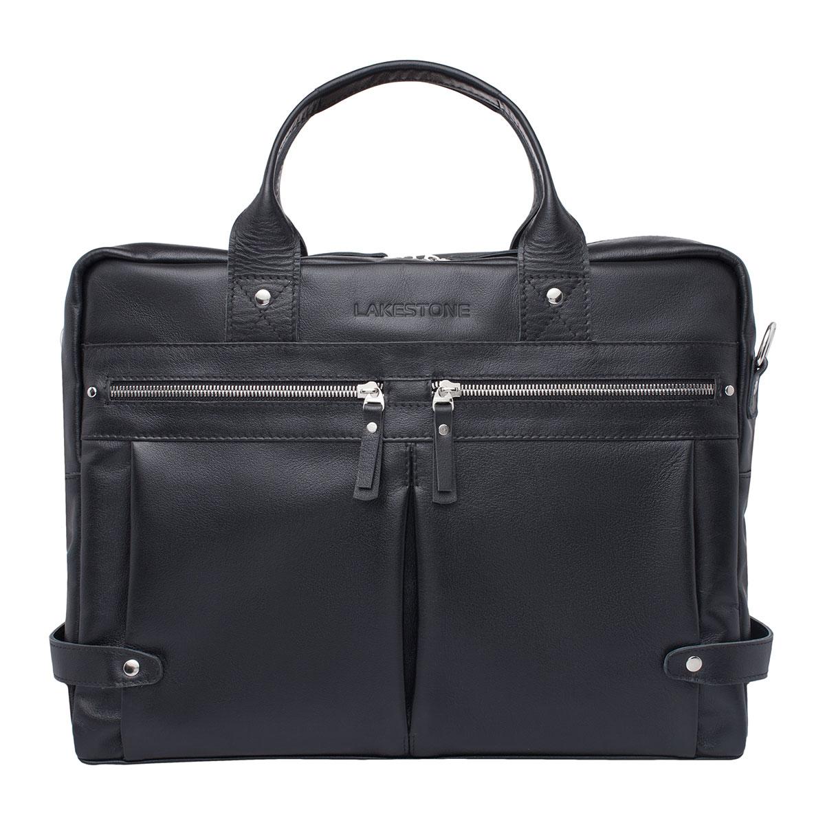 Кожаная деловая сумка для ноутбука Jacob Black фото