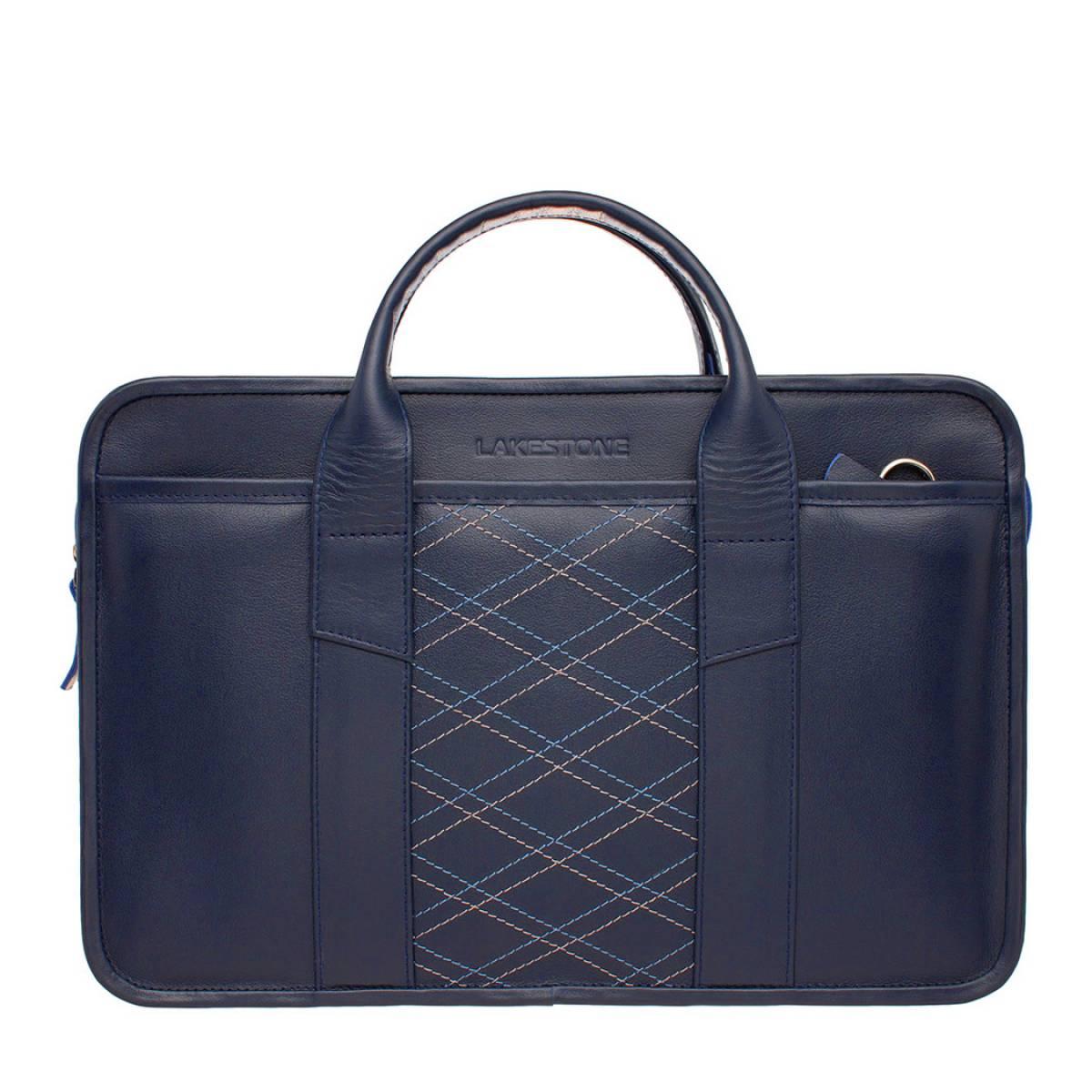 Деловая сумка Marion Dark Blue Rhombus фото