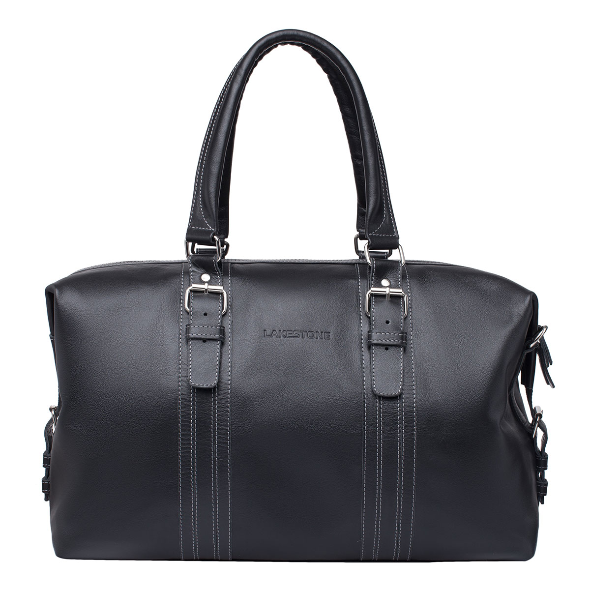 Дорожная сумка Olympus Black из кожи фото