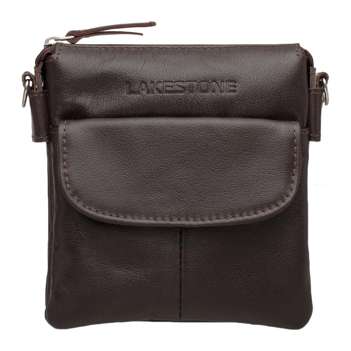 Небольшая кожаная мужская сумка через плечо Osborne Brown
