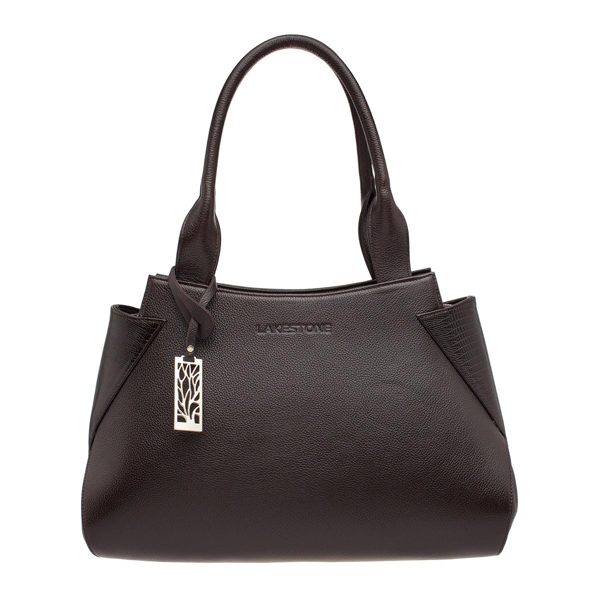 Кожаная женская сумка Osprey Brown фото