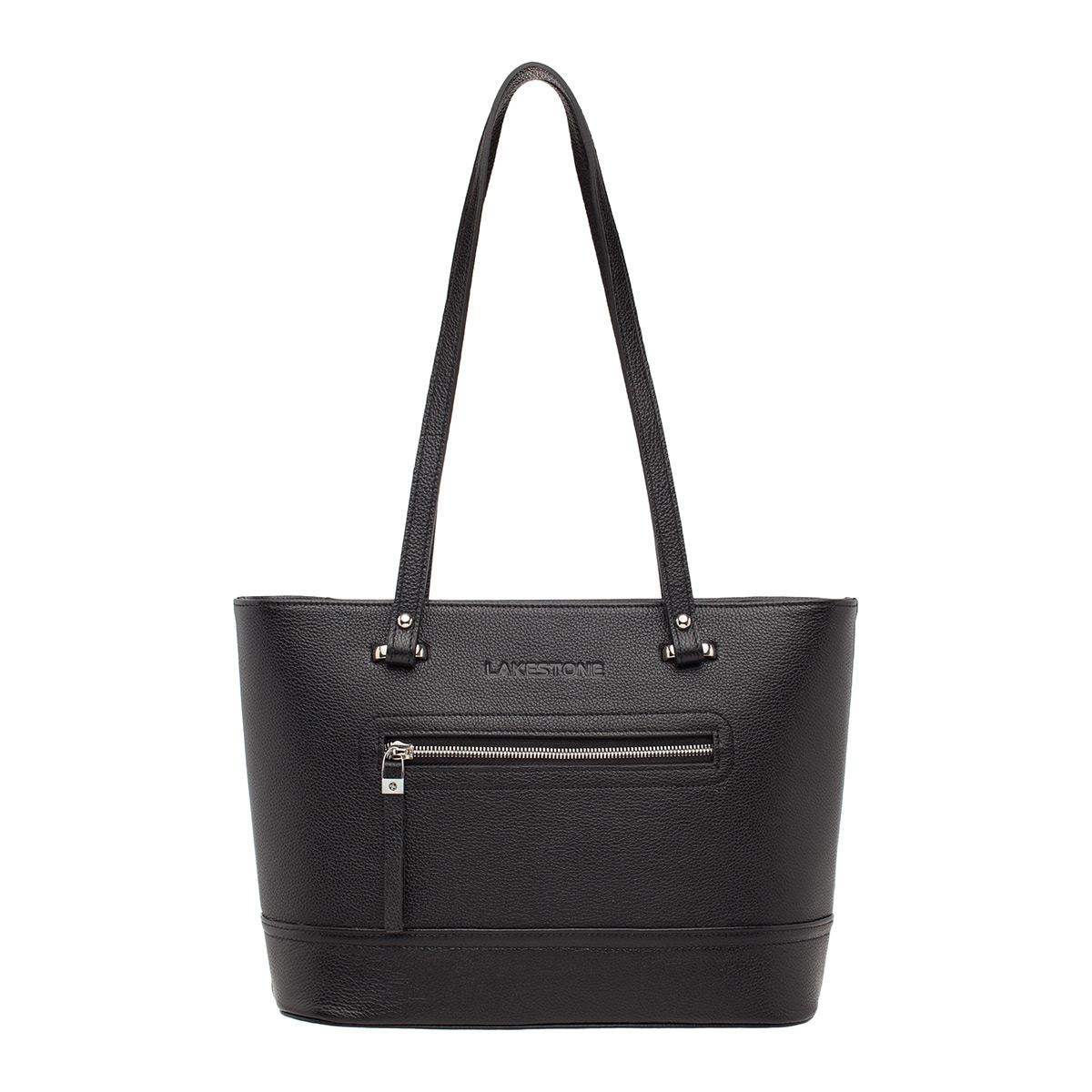 Купить Кожаная женская сумка Page Black