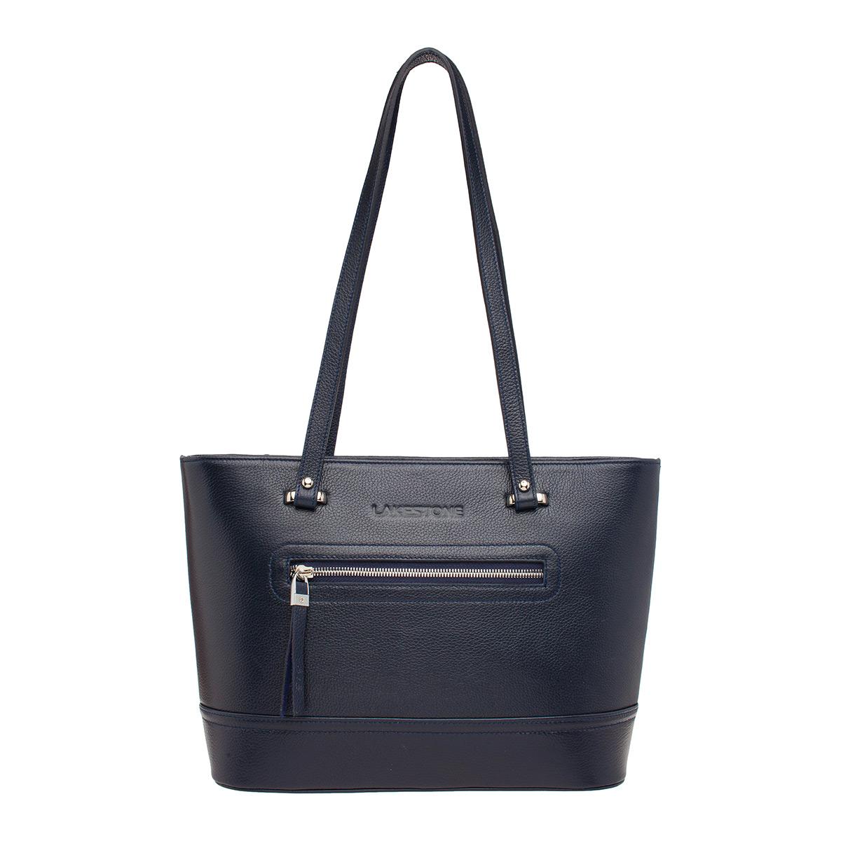 Купить Кожаная женская сумка Page Dark Blue