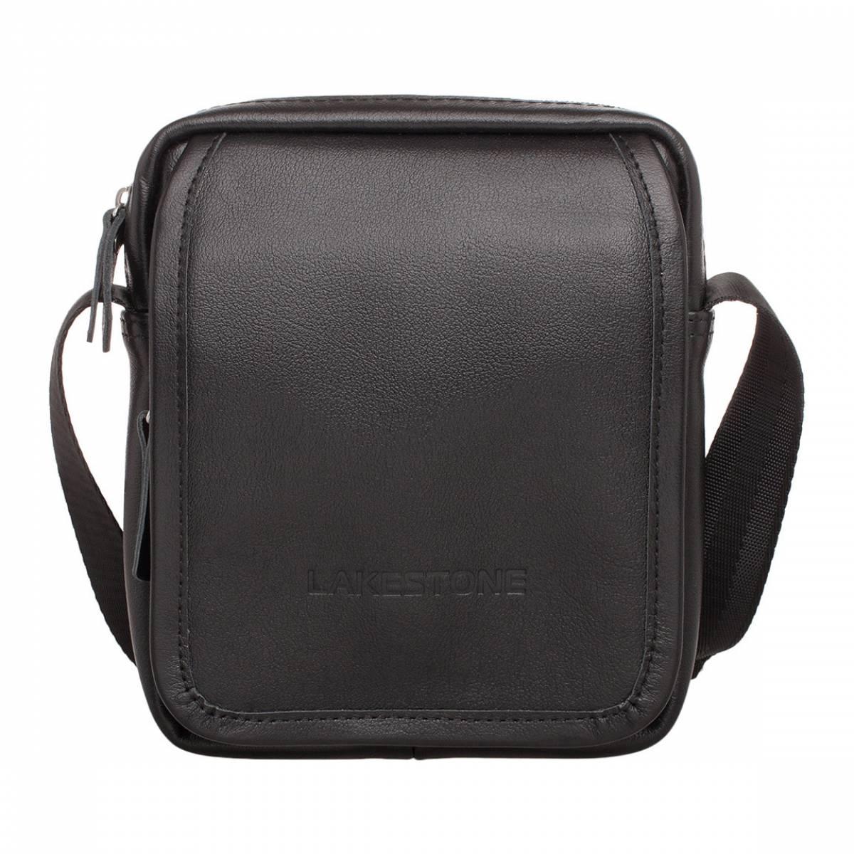 Небольшая кожаная сумка через плечо Parker Black Lakestone