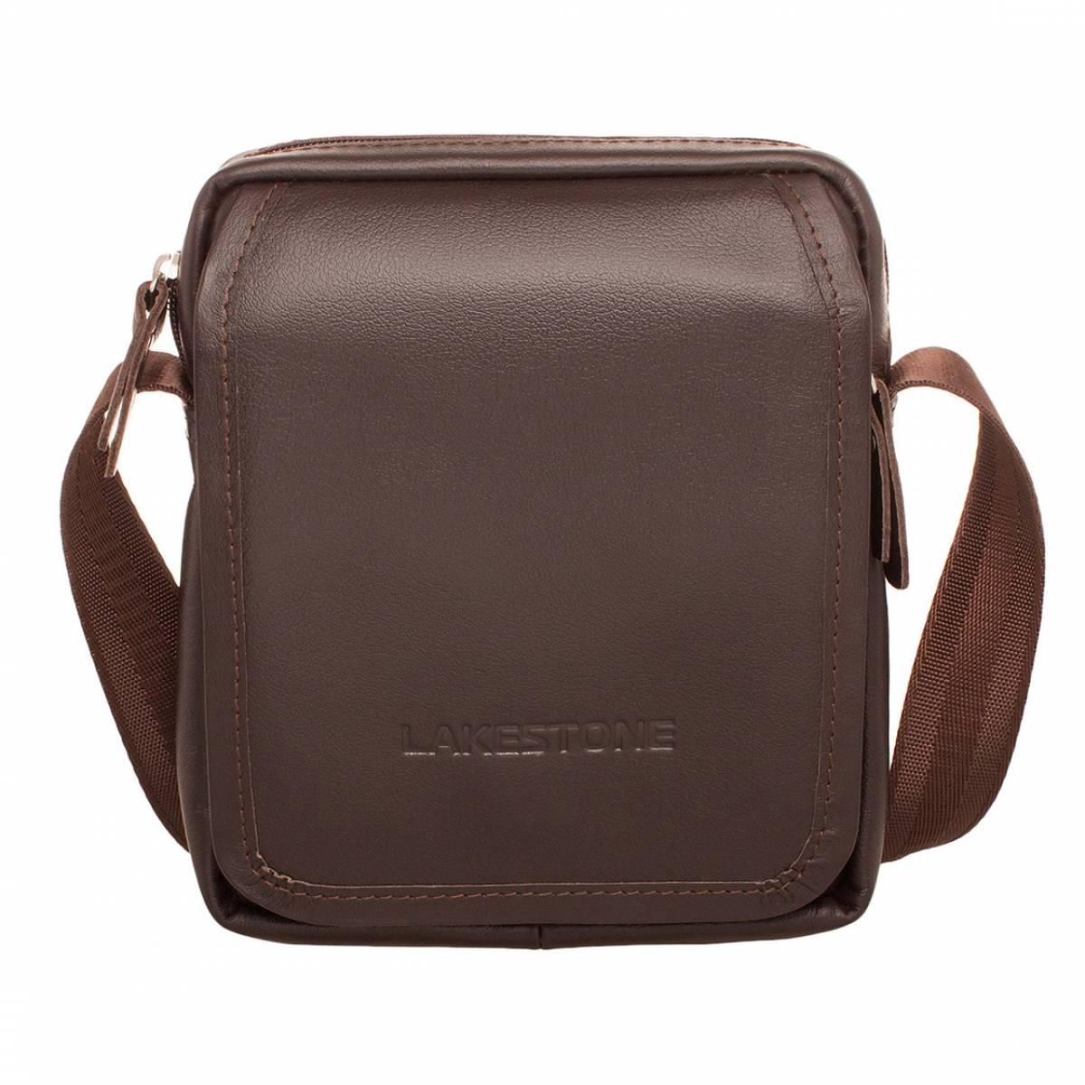 Небольшая кожаная сумка через плечо Parker Brown Lakestone
