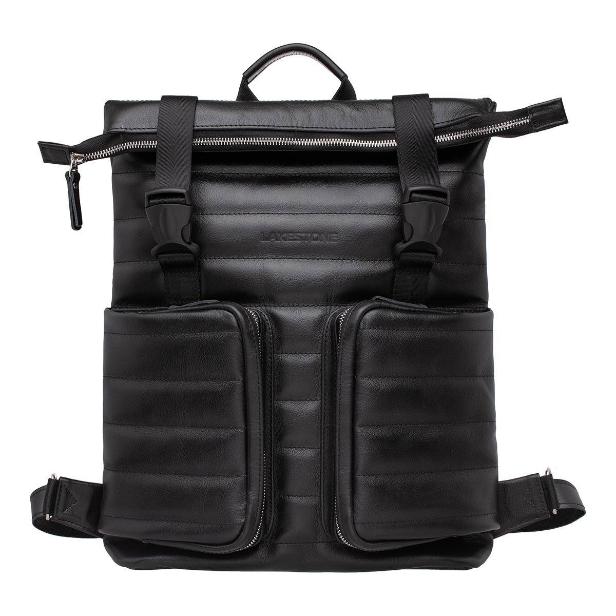 Рюкзак из кожи Parson Black фото