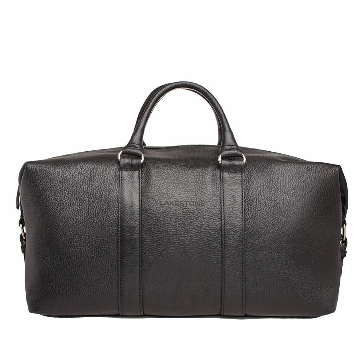 Кожаная дорожно-спортивная сумка Pinecroft Black