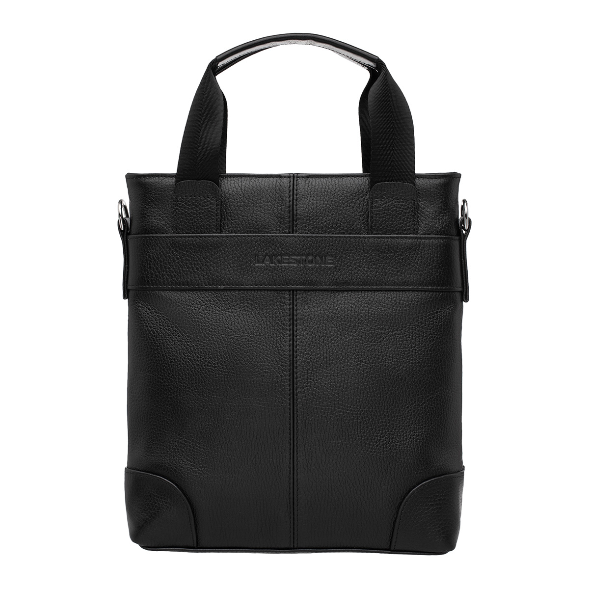 Мужская деловая сумка вертикальная Russell Black
