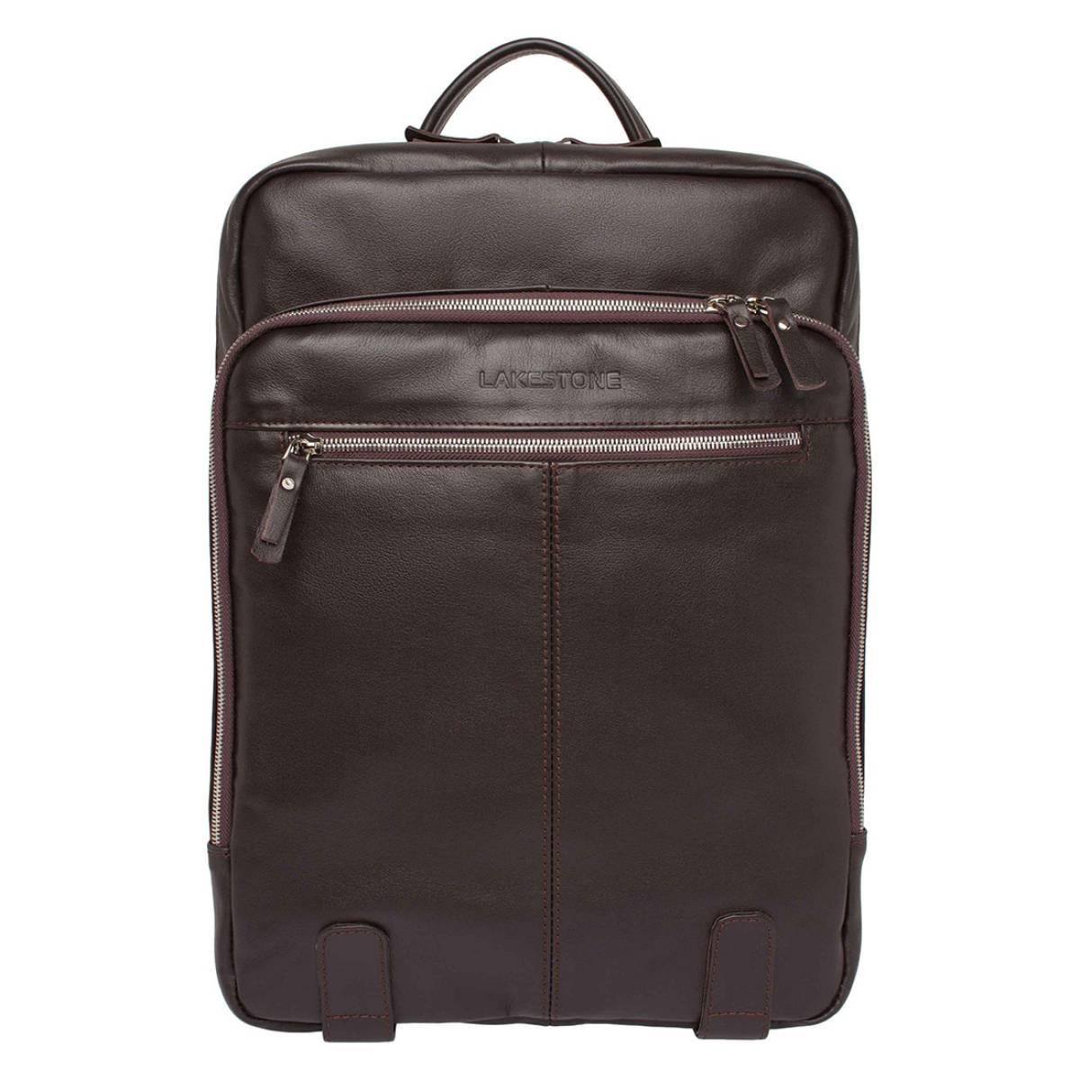 Мужской кожаный рюкзак для ноутбука Salmons Brown
