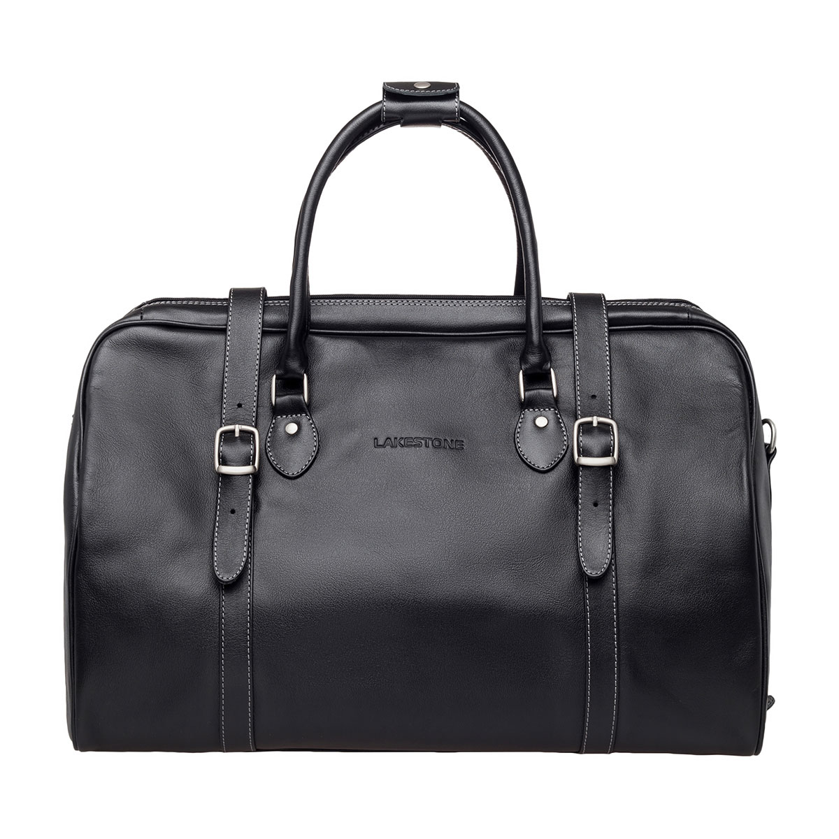Дорожная кожаная сумка Sandford Black фото