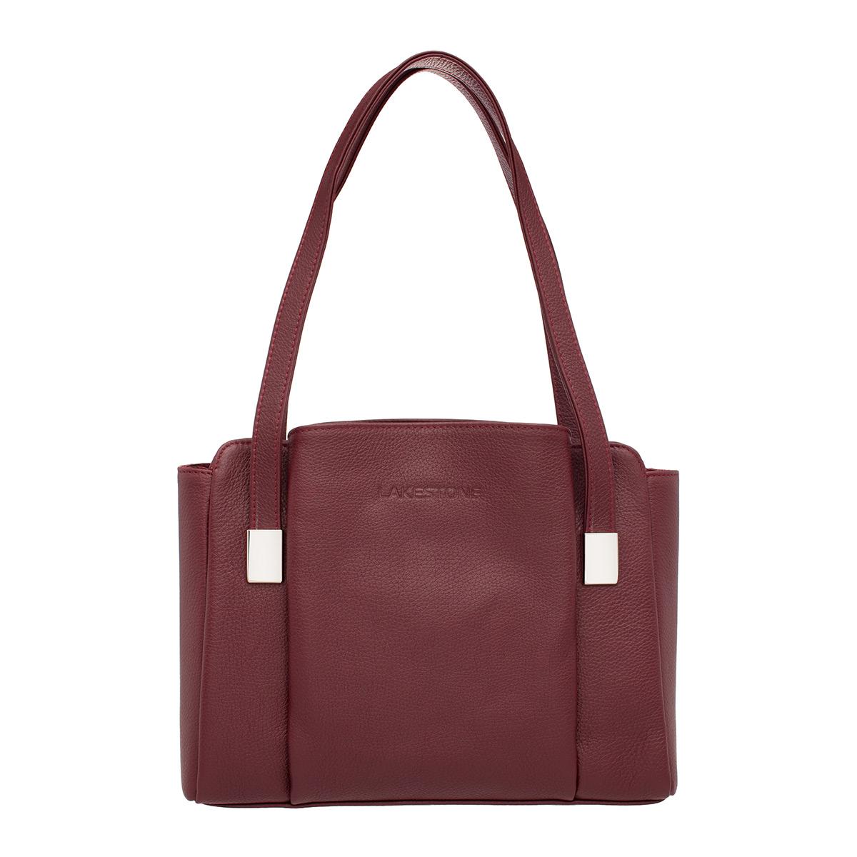 Кожаная женская сумка Tara Burgundy фото