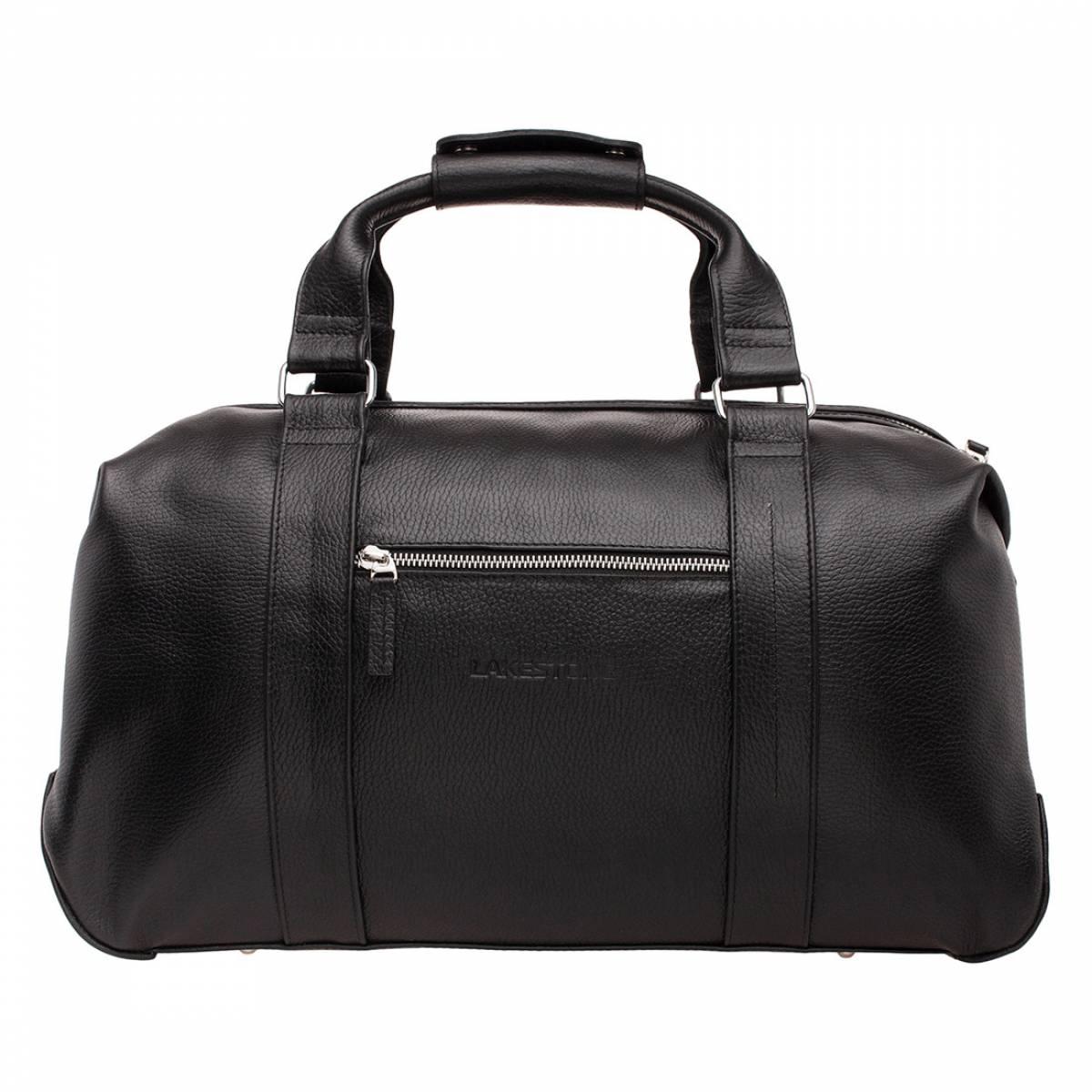Кожаная дорожно-спортивная сумка Woodstock Black