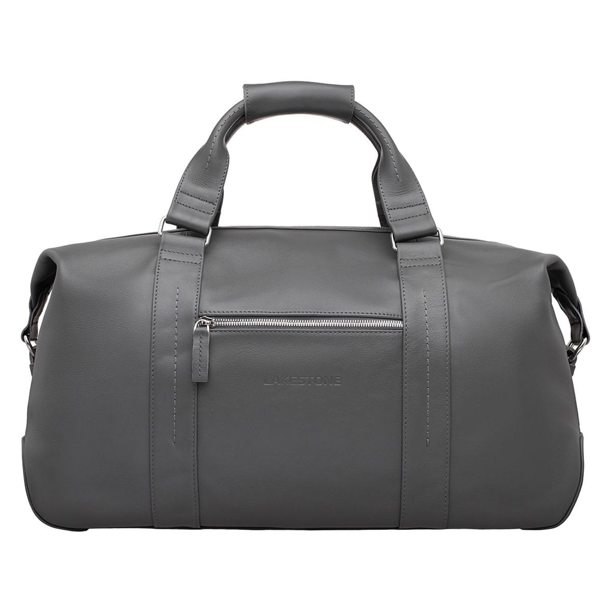 Кожаная дорожно-спортивная сумка Woodstock Grey фото